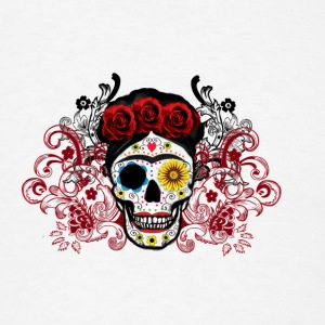 Frida Sugar Skull Case - Men's T-Shirt