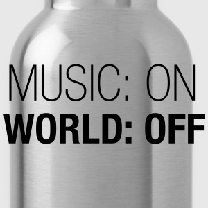 Music on – world off – men premium shirt (dh) - Water Bottle