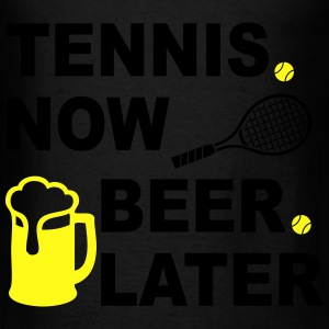 Tennis Now Beer Later Bags & backpacks - Men's T-Shirt
