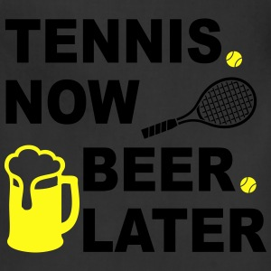 Tennis Now Beer Later Women's T-Shirts - Adjustable Apron