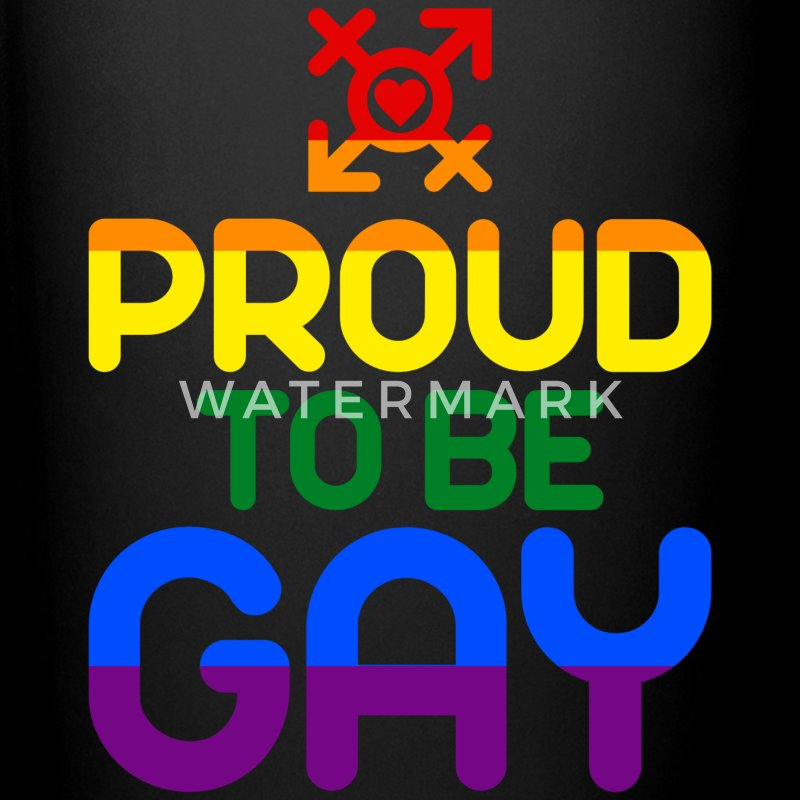 Proud to be Gay (colored) Mugs & Drinkware - Full Color Mug