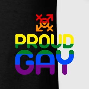 Proud Gay (colored) Caps - Men's T-Shirt