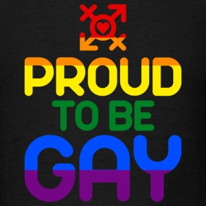 Proud to be Gay (colored) Caps - Men's T-Shirt
