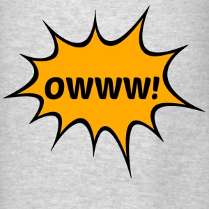 OWWW! Funny Comic Book Action Bubble T-Shirt Hoodies - Men's T-Shirt