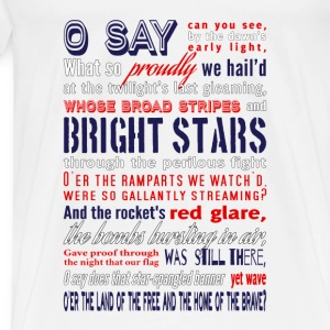 The Star-Spangled Banner Tanks - Men's Premium T-Shirt