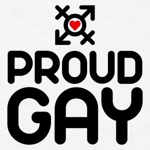 Proud Gay (2c) Accessories - Men's T-Shirt