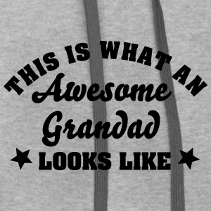 this is what an awesome grandad looks li - Contrast Hoodie