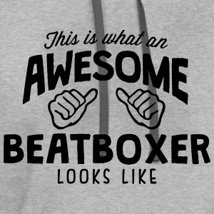 awesome beatboxer looks like - Contrast Hoodie