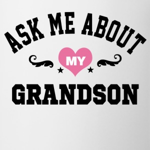 ask me about my grandson Women's T-Shirts - Coffee/Tea Mug