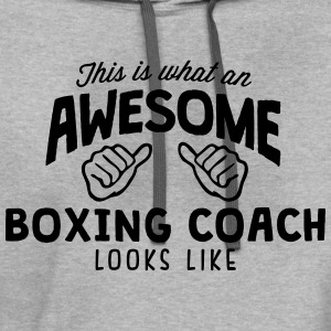 awesome boxing coach looks like - Contrast Hoodie