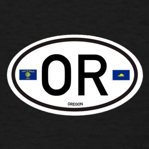 Oregon Euro-Oval  - Men's T-Shirt