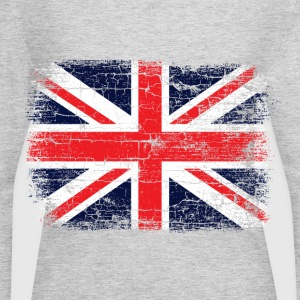 Vintage UK Union Jack Flag Women's T-Shirts - Women's Long Sleeve Jersey T-Shirt