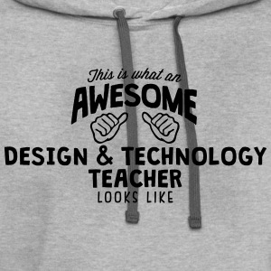 awesome design  technology teacher looks - Contrast Hoodie