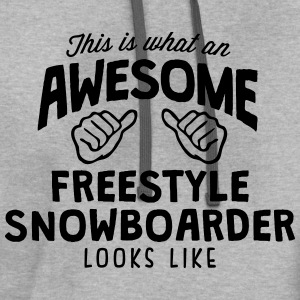 awesome freestyle snowboarder looks like - Contrast Hoodie