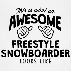 awesome freestyle snowboarder looks like - Adjustable Apron