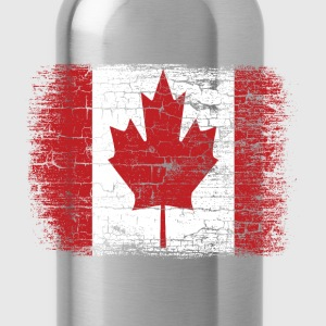 Vintage Canada Flag T-Shirts - Water Bottle