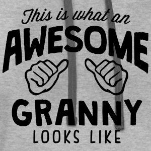 awesome granny looks like - Contrast Hoodie