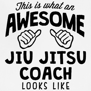 awesome jiu jitsu coach looks like - Adjustable Apron