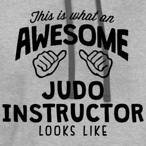 awesome judo instructor looks like - Contrast Hoodie