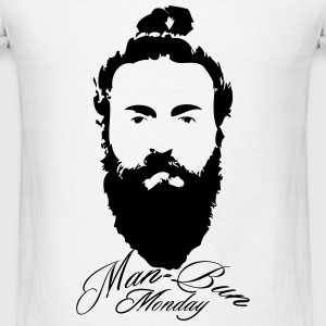 Man bun Monday - Men's T-Shirt