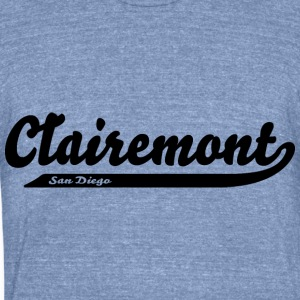 Clairemont San Diego City Neighborhood Long Sleeve Shirts - Unisex Tri-Blend T-Shirt by American Apparel