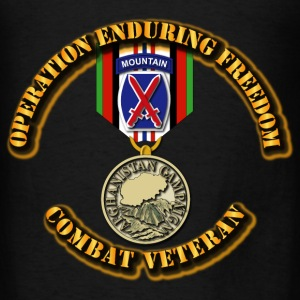 Operation Enduring Freedom - 10th Mountain Divisio Hoodies - Men's T-Shirt