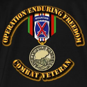 Operation Enduring Freedom - 10th Mountain Divisio Hoodies - Men's Premium T-Shirt