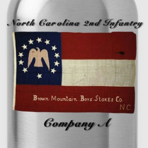 CSA NC 2nd Infantry Batt. Company A Brown Mountain - Water Bottle