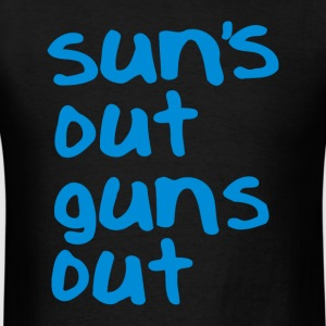 Suns out Guns out (1) - Men's T-Shirt