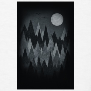Scary Forest Art (Abstract triangles) Phone Case Accessories - Men's T-Shirt