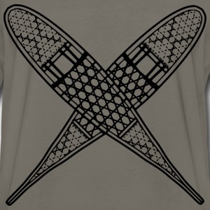 A pair of crossed snowshoes - Men's Premium Long Sleeve T-Shirt