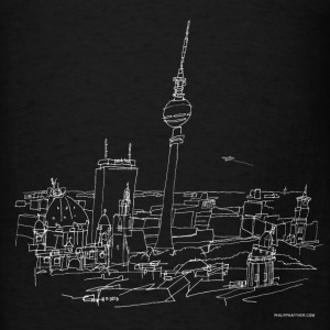 Drawing Berlin (white) Hoodies - Men's T-Shirt