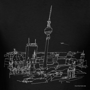 Drawing Berlin (white) Long Sleeve Shirts - Men's T-Shirt