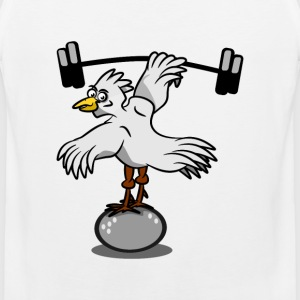 Chicken lifting weights - Men's Premium Tank