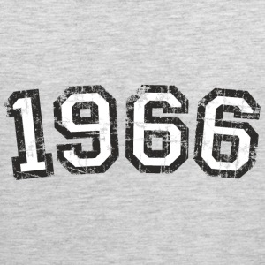 Year 1966 Vintage Birthday T-Shirt (Men Black&Whit - Men's Premium Tank