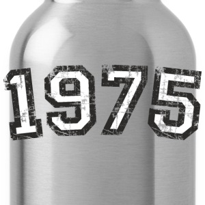 1975 Vintage Birthday T-Shirt (Men Black&White) - Water Bottle