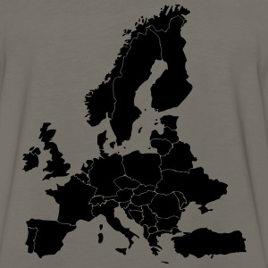 Map Of Europe - Men's Premium Long Sleeve T-Shirt