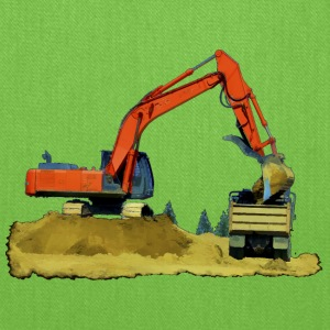 Excavator and Tip-Truck - Tote Bag