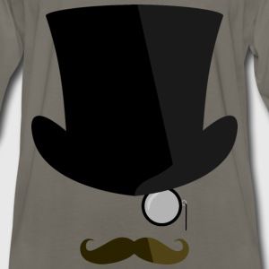 Top hat, moustache, monocle - Men's Premium Long Sleeve T-Shirt