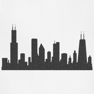 Chi Chicago Skyline Silhouette  Women's T-Shirts - Adjustable Apron