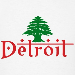 Detroit Lebanon Lebanese Pride Flag Hoodies - Men's T-Shirt