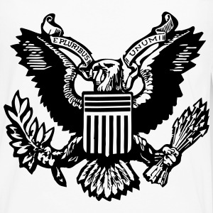 one dollar great seal eagle Women's T-Shirts - Men's Premium Long Sleeve T-Shirt