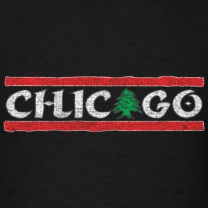 Chicago Lebanese Lebanon Pride Flag Hoodies - Men's T-Shirt