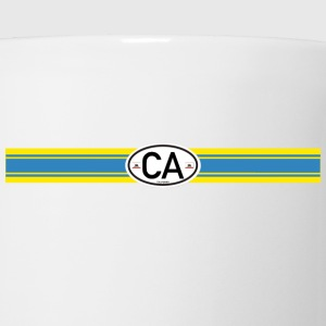 blue yellow racing stripe T-Shirts - Coffee/Tea Mug