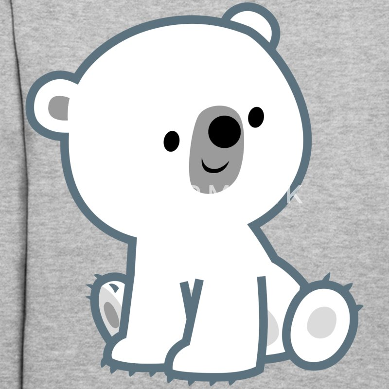 Sweet Cartoon Polar Bear Cub by Cheerful Madness!! Hoodies - Women's Hoodie