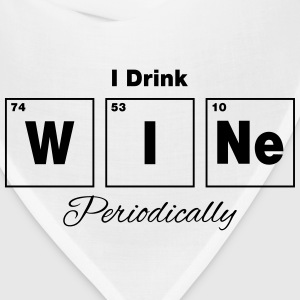 I Drink Wine Periodically Tanks - Bandana