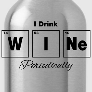 I Drink Wine Periodically Tanks - Water Bottle