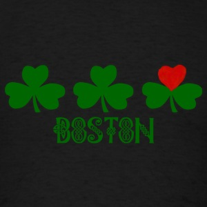 Boston Shamrocks Heart Love Long Sleeve Shirts - Men's T-Shirt