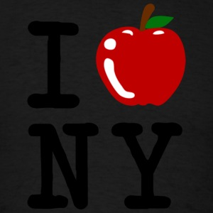 I Apple New York City Long Sleeve Shirts - Men's T-Shirt