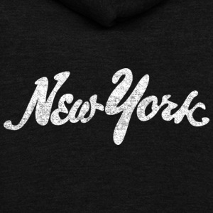 Distressed New York Drawn Hoodies - Unisex Fleece Zip Hoodie by American Apparel